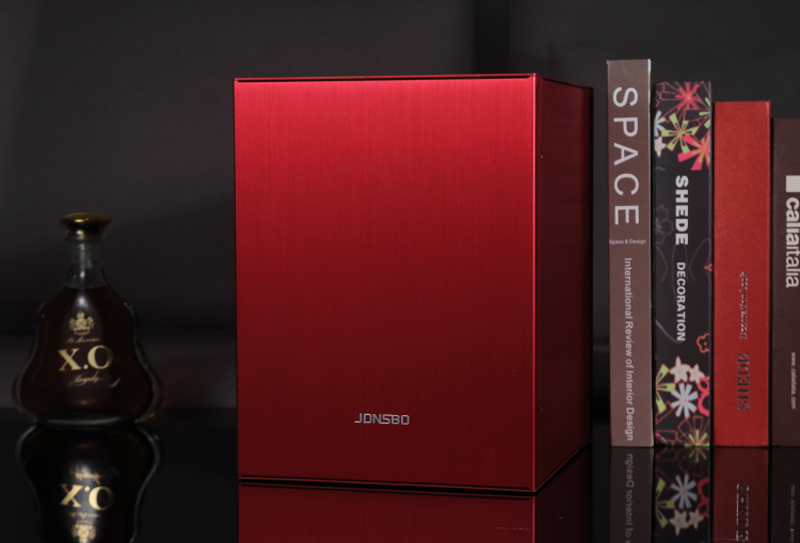 цены  Computer case Jonsbo C2 RED Aluminum MATX Chassis  Support  big power supply USB3.0