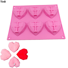New Diamond Heart Dessert 3D Cake Mold Art Mousse Dessert Silicone Mould Chocolate Baking Pan Pastry Tools Bakery Silicone Molds