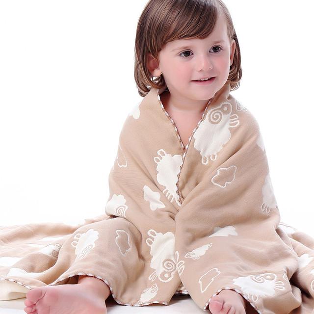 Recién nacido algodón toalha de banho towel infantil de dibujos animados bebé baño artículos de baño manta de algodón bebé terry towel paños 50a079