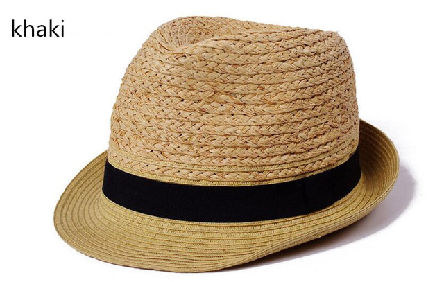 73651487058 2017 laffey straw trilby hat for women and men.summer handmade casual  fedora sun beach