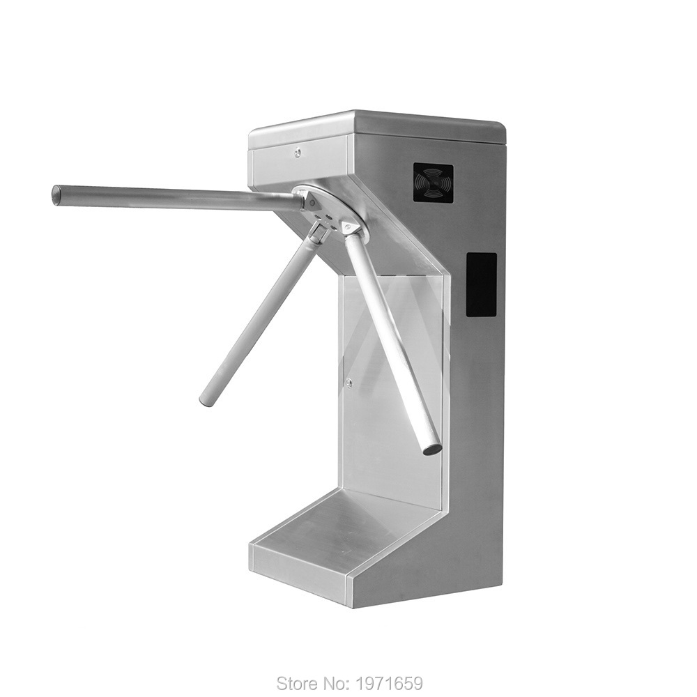 Manual Waist High Tripod Turnstile Intelligent Access Control 304# Stainless For gym park exit entrance double sided turnstile for access control system catracas tourniquetes