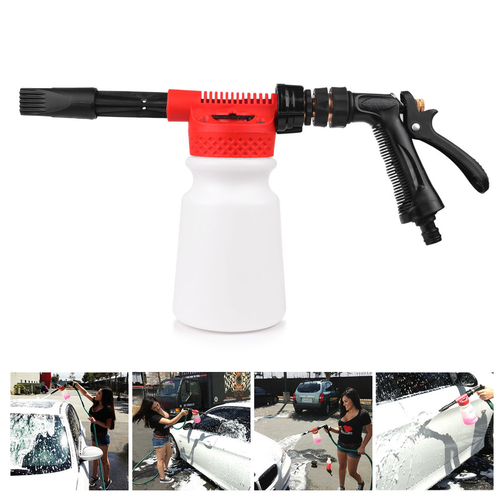 Washing Cleaning Sprayer Easy Foaming Chemical Guys Foam Blaster 6 Foam Wash Gun 900ml Bottle Free Connection with Garden Hose in Water Gun Snow Foam Lance from Automobiles Motorcycles