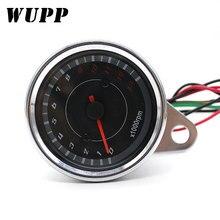 WUPP 1000 об./мин Универсальный светодиодный Тахометр для мотоцикла DC 12 В измеритель 13 к спидометр для honda Yamaha Suzuki