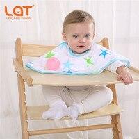 LAT 2 Pack Reversible 100 Cotton Muslin Burp Cloths Super Absorbent Feeding Burpy Bibs Kid S