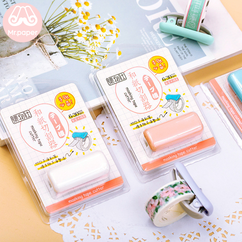 Mr Paper 6 Colors Tape Cutting Scissors Creative Mini Convenient Scissors Suitable For 6mm-30mm Masking Tape Stationery Scissors