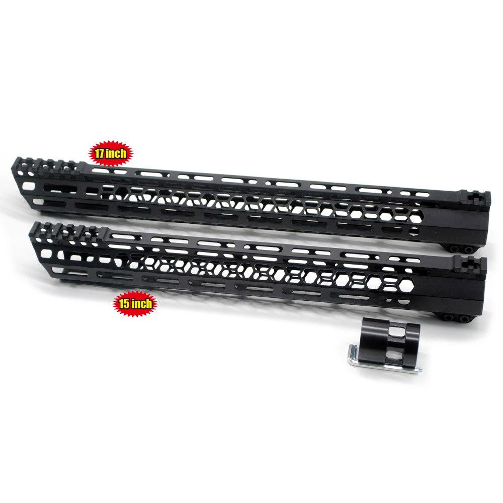TriRock 15/17'' inch M-lok Clamping Style Handguard Rail New Design Free Float Picatinny Mount System Black Fit .223/5.56/AR-15