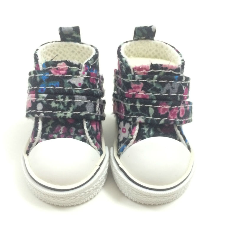 5 CM Mini Causal Toy Canvas Shoes 1/6 BJD Doll Shoes for Dolls,Fashion Sneakers Shoes Doll Boots Dolls Accessories 2 Pairs/Lot
