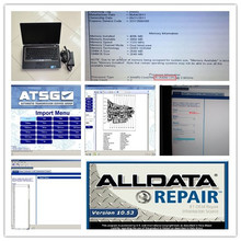 v10.53 alldata and mitchell on demand 5.8 + atsg auto repair software installed in laptop e6320 i5 4g hard disk 1tb ready to use