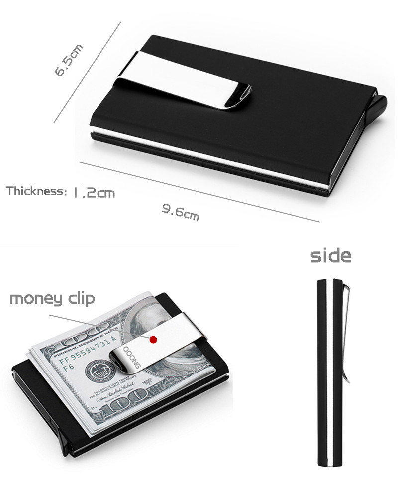 QOONG 2018 Rfid Card Wallet Automatic Pop Up ID Credit Card Holder ...