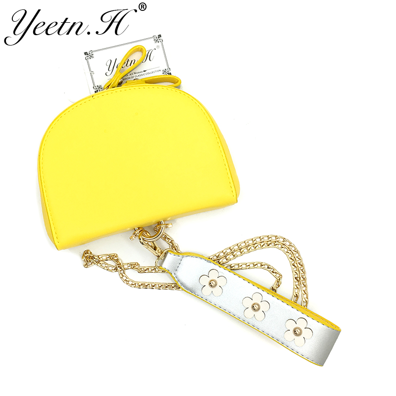 Yeetn. H новое поступление модная обувь из искусственной кожи Винтаж половина круговой Курьерские сумки для Для женщин Crossbody женщина Сумки Пря...