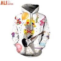 09aace24ae8 Alisister Funny Rock Cat 3d Hoodies Sweatshirt Men Women Plus Size  Christmas Sweatshirts Punk Thin Streetwear