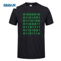 GILDAN T Shirts Bitcoin Binary Men S Pre Cotton Short Sleeve Clothes T Shirt Crew Collar