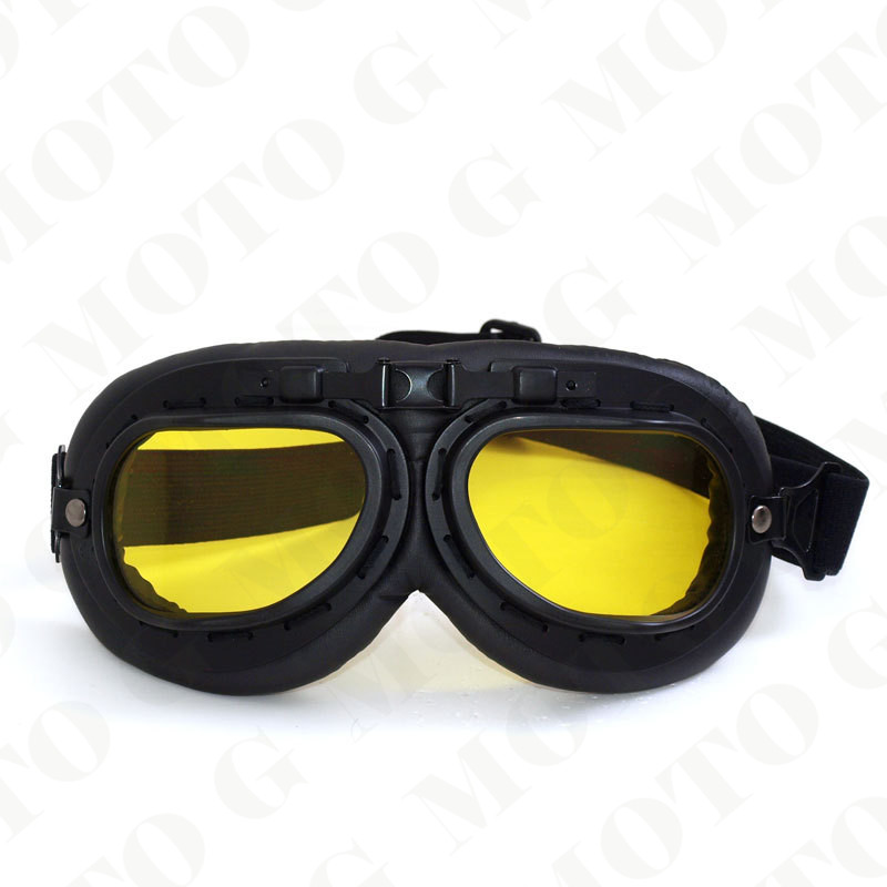 NEW fashion leather motorcycle glasses unisex windproof motorbikes helmet motocross goggles dirt bike ATV skiing cycling glasses