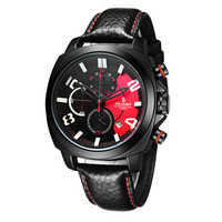 Senors男性スポーツ腕時計防水30メートル黒男性クロノグラフクオーツ腕時計2017新しい高速