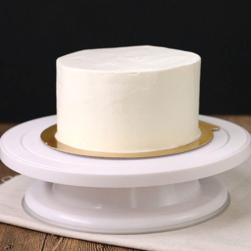 28 cm * 7 cm 360 grados giratorio torta que adorna la placa giratoria torta decoración soporte plataforma cake Baking Tool