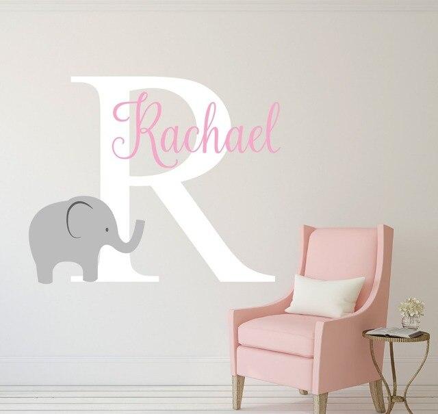 Elefanten Name Wandtattoo Name Baby Wandtattoo personalisierte ...