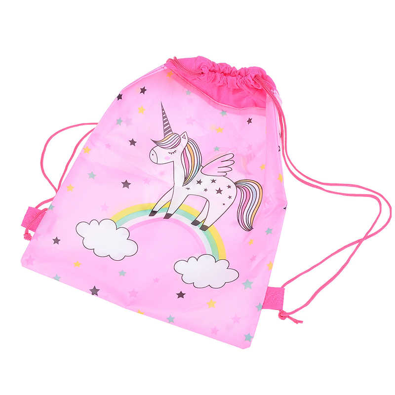 Eenhoorn Tasje Eenhoorn Trekkoord Tassen Kids Cartoon Thema Eenhoorn Zakken Snoep Opslag Party Verpakking 34 Cm * 27 Cm