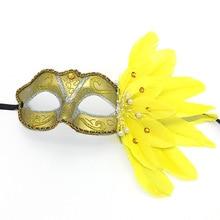 Women Girl Halloween Masquerade Ball Costume Make Up Party Princess Mask 10pcs/lot Retro Half Face Feather Flower Dancing Mask стоимость