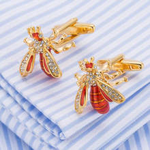 AGULA New Arrival Funny Bee Cuff links French Shirt Cufflinks Creative Gemelos(China)