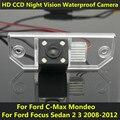 Para Ford Focus Sedan 2 3 2008 2009 2010 2011 2012 C Max C Max Mondeo Coche CCD de Visión Nocturna Cámara de Visión Trasera de Copia de seguridad A Prueba de agua