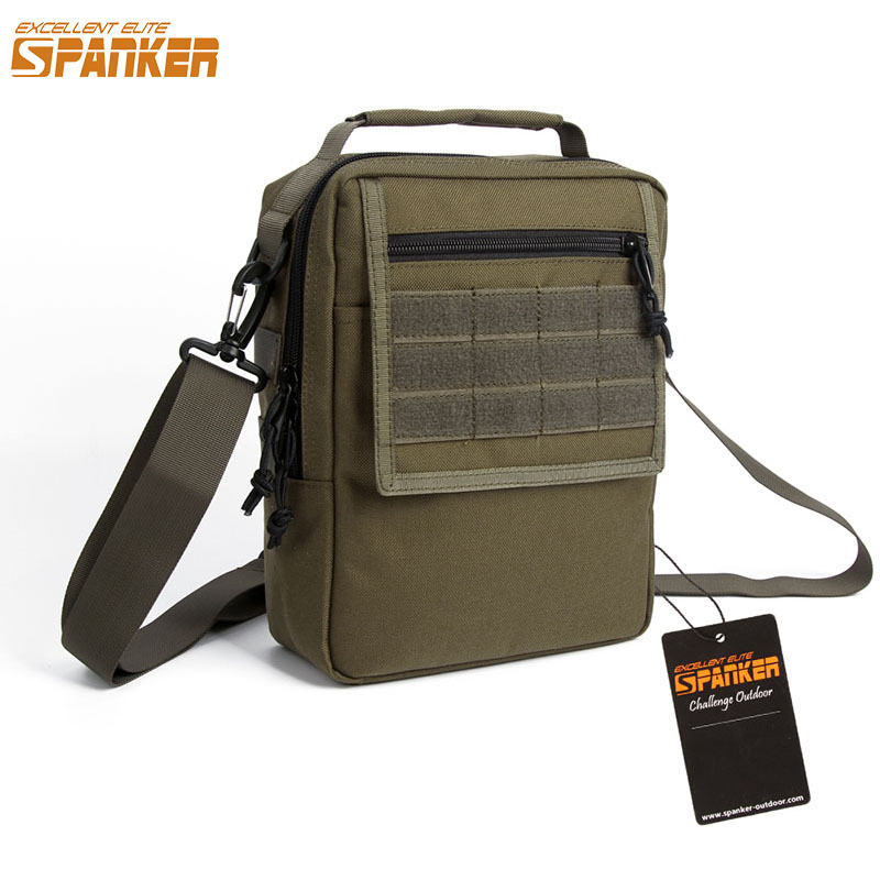 EXCELLENT ELITE SPANKER Outdoor Mountaineering Shoulder Bags Nylon Tactical Rectangular Satchel Sport Molle Travel Tactical Bag ...