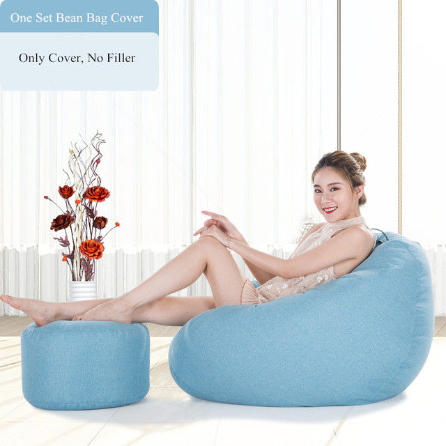 Awe Inspiring One Set Bean Bag Cover Lazy Leisure Sofa Bed No Filler Bean Bag Chair Living Room And Bedroom Couch Japanese Tatami Puff Sofas Creativecarmelina Interior Chair Design Creativecarmelinacom