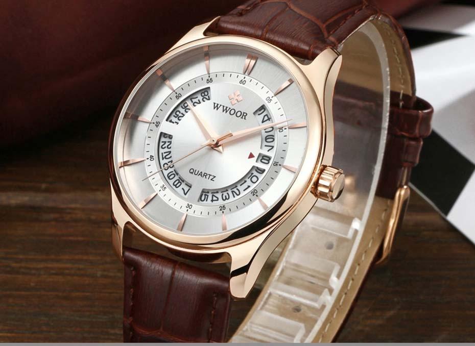 New Quartz Mens Watches Top Brand Luxury Complete Calendar Men\'s Wrist Watch Genuine Leather Strap Men Wristwatches  2019 (6)