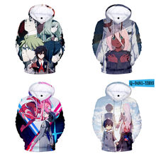 ec767175 Anime darling in the franxx Sweatshirts zero two Hooded sweater Cosplay  Costumes Fall men and women fashion hoodie jackets
