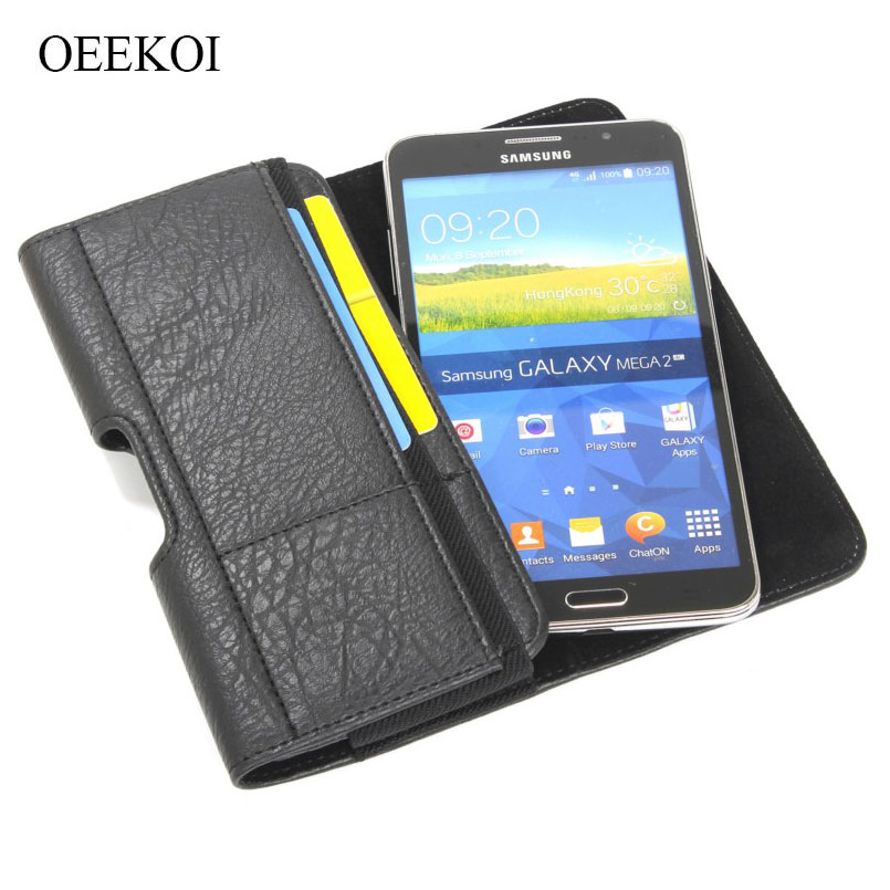 OEEKOI Stone Pattern PU Leather Waist Bag Belt lip Pocket Pouch Phone Holster Case for NavRoad Nexo Handy/Nexo Smarty