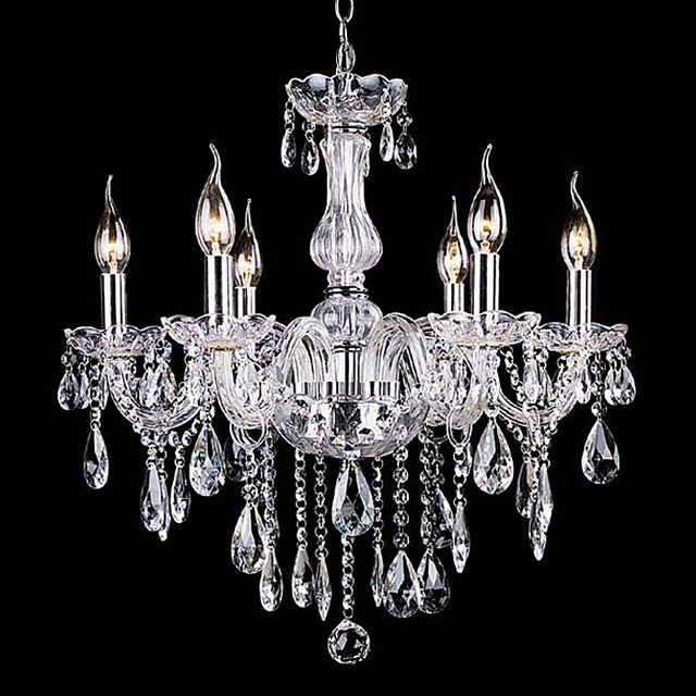 Aliexpress buy noble luxurious export k9 clear crystal noble luxurious export k9 clear crystal chandelier 6 arms class a k9 lustres de cristal chandeliers aloadofball Image collections
