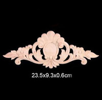 23 5x9 3x0 6cm Wood Shavings Shaped Flowers Decal European Wood Trim Chinese Decoration Furniture Decoration