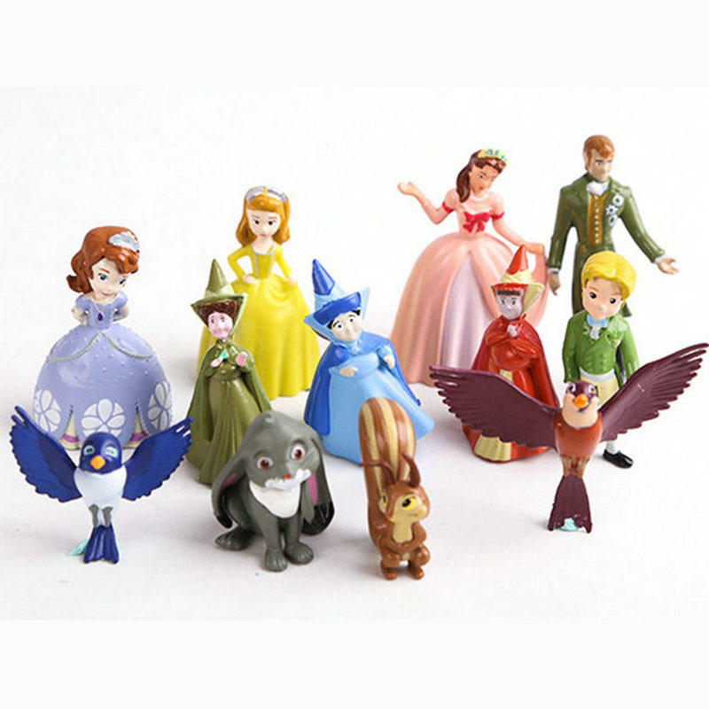 12pcs/set New Sofia the first Figures Toys Princess Sofia Action Figure PVC Doll Brithday Gift toy For Children kids toys
