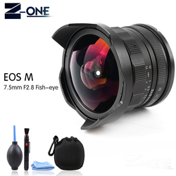 New 7.5mm F2.8 Fisheye Manual Fish Eye Lens For Canon EOS M M1 M2 M3 M5 M6 M10 M50 M100 EF-M Camera lens