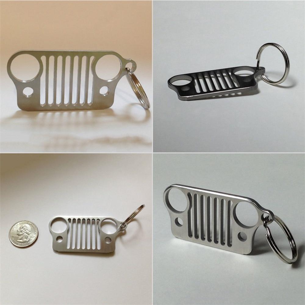 Нержавеющаясталь Гриль брелок для джип Гриль кольцо для ключей CJ JK TJ YJ XJ NEW падения доставка