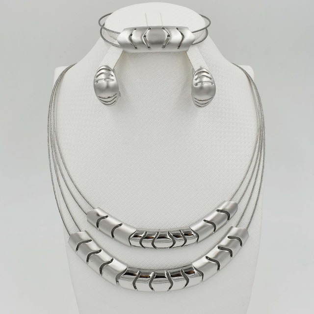 Clotilde-Silver-plated-Jewelry-Set