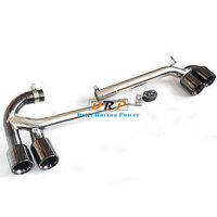 A set four out Modified Car Rear Exhaust Pipe Titanium Black Muffler tip Tail pipe fit for 2013 2016 BMW 3 Series 316 MT MP