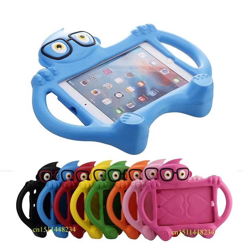 все цены на For iPad mini 1/2/3 Retina Kids Baby Safe Armor Shockproof Heavy Duty Silicone  Protector Case Cover for ipad mini 4 +Stylus онлайн