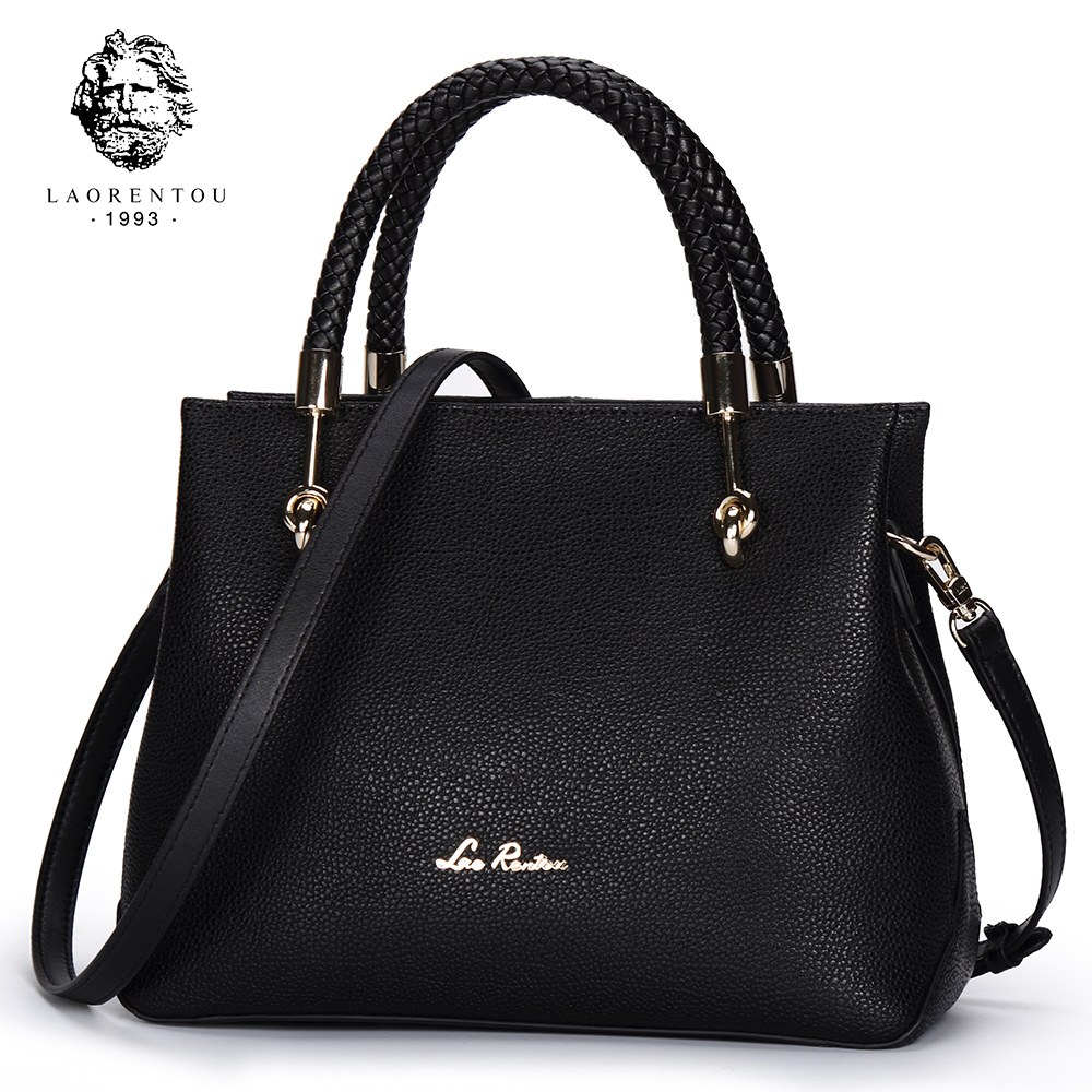 f0abbccb997 LAORENTOU Women s Cow Leather Shoulder Bag For Women Casual Luxury Solid  Handbag Exclusive Designer Brand Lady Leather Tote