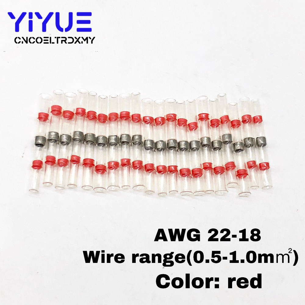 20pcs Sst S21 Awg22 18 Seal Heat Shrink Butt Wire Connectors Wiring Diagram Terminals