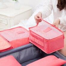 6Pcs/Set Organizer Travel Bag Storage Clothes Tidy Pouch Luggage Organizer Cabinet Wardrobe Large Travel Bag Luggage Suitcase 30