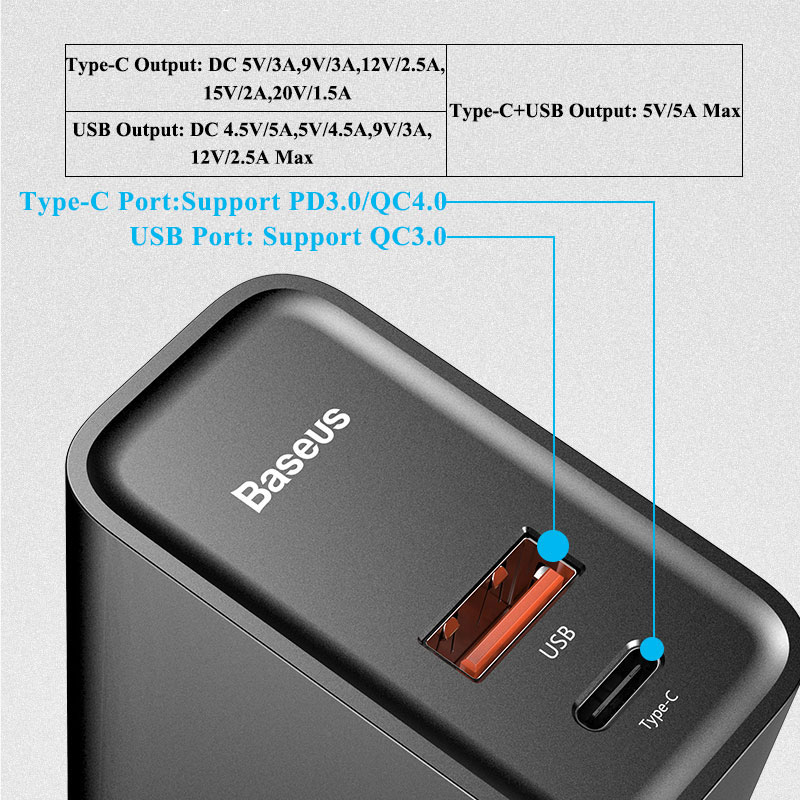 Image 2 - Baseus Quick Charge 4.0 3.0 USB Charger For Redmi Note 7 Pro 30W PD Supercharge Fast Phone Charger For Huawei P30 iPhone 11 Pro-in Mobile Phone Chargers from Cellphones & Telecommunications
