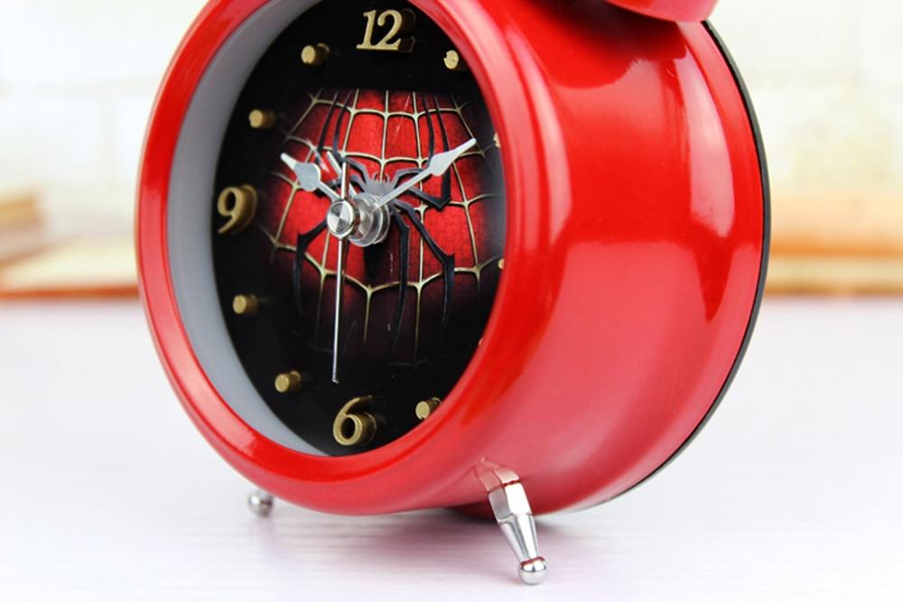 Mode Red Cobweb Style 3D Logam Bell Jam Alarm Minimalis Desktop Jam - Dekorasi rumah - Foto 5