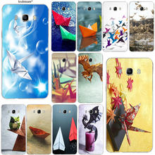 Japanese Origami Cranes Art For Samsung Galaxy J1 J2 J3 J5 J7 2016 2017 Silicon Clear Luxury Cover Soft TPU Flower Phone Cases(China)