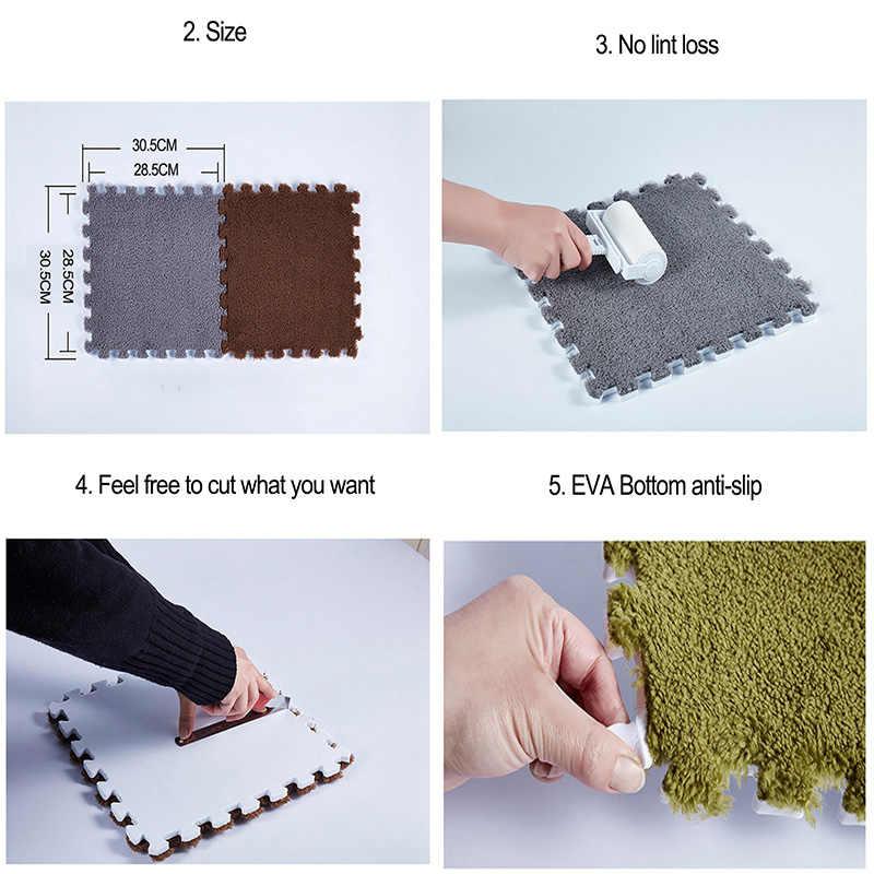 Alfombra puzle Para niños de 30x30cm, alfombra puzle de espuma EVA, suelo ecológico de terciopelo peludo Para bebés, 11 colores Para Sala de estar, Tapetes Para Casa Sala