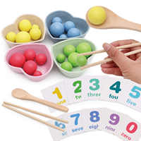 Montessori Children Wooden Clip Beads Early Educational Intelligence Math Toys for Children Kids Toddlers Gift