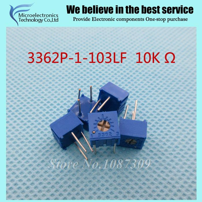 compare prices on 10k variable resistor online shopping buy low 50pcs lot 3362p 1 103lf 3362p 103 10k ohm trimpot trimmer potentiometer variable