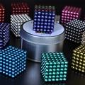 216 шт. 5 мм неодимовые магнитные шары шары шарики magic cube магниты головоломки подарок на день рождения для детей-с металлической коробка