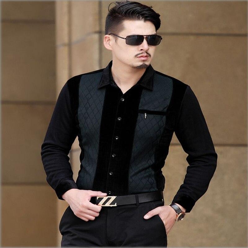 New arrival 2017 Spring mercerized cotton quality long sleeve shirt Korean style slim bussiness casual plaid men shirt M-XXXL