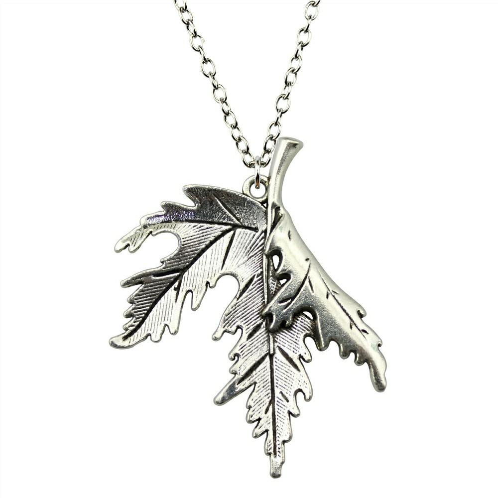 WYSIWYG 2 Colors 55x45mm Leaves Pendant Necklace, Fashion Jewelry Gift For Women Dropshipping 2018 New Arrivals