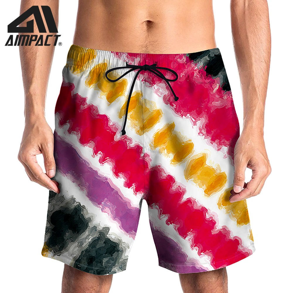 3D Tie Dye   Board     Shorts   for Men Summer Quick Dry Beach Surf Swimming Trunks Male Casual Pool Diving Hybird By Aimpact AM2130